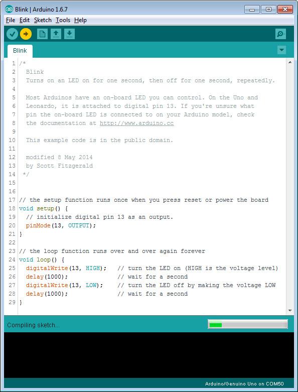 Arduino IDE, Blink 2